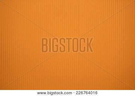 Orange Colored Corrugated Cardboard Texture Useful As A Background