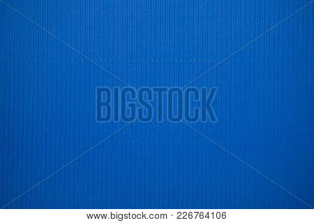 Blue Colored Corrugated Cardboard Texture Useful As A Background