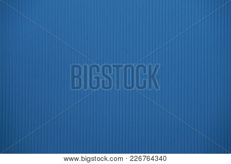 Light Blue Colored Corrugated Cardboard Texture Useful As A Background