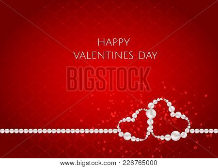 Valentines Day Abstract Background With Heart. Vector Illustration. Vector Illustration Eps10