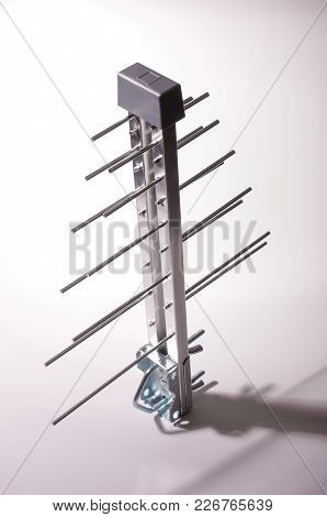 Log Periodic Antenna For Uhf Tv Under Hard Light