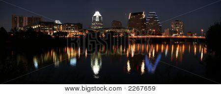 Downtown Austin, Texas At Night