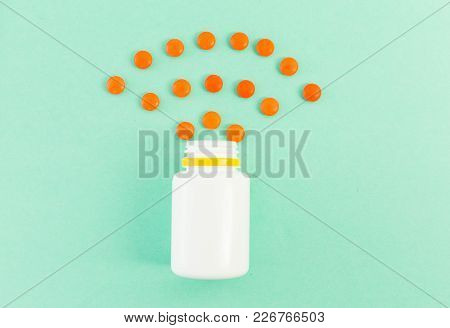 Spilled Pills Or Tablets As Pattern
