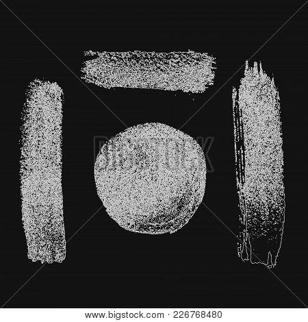 Abstract Black Thick Smear Of Paint Isolated On A White Background. Vector
