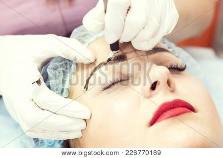 Microblading Eyebrows Workflow In A Beauty Salon