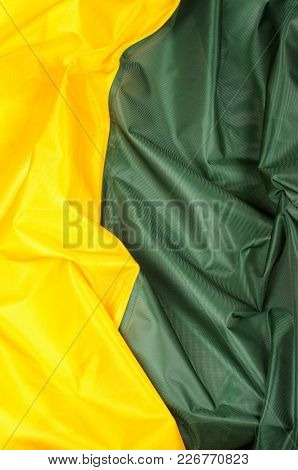 Yellow Green Silk Fabric As Background