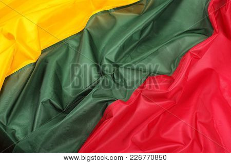 Abstract Close Up Of Lithuania Flag