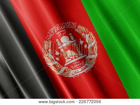 Afghanistan Textured Proud Country Waving Flag Close