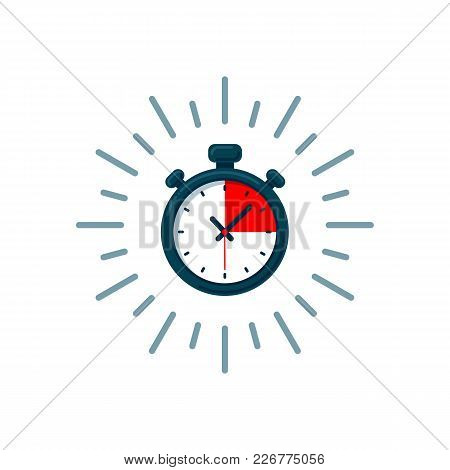 Timer Icon. Fast Time. Fast Delivery, Express And Urgent Shipping, Services, Stop Watch Speed Concep