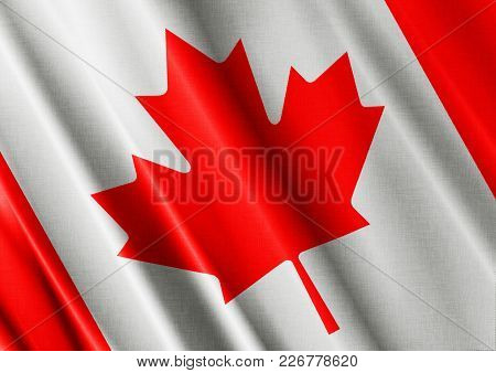 Canada Textured Proud Country Waving Flag Close