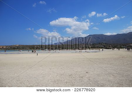 Elafonisi Beach On Greek Island Of Crete Is One Of The Most Beautiful Beaches Of Europe