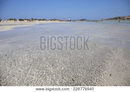 Elafonisi Beach, Crete Island, Greece,one Of The Most Beautiful Beaches In The World