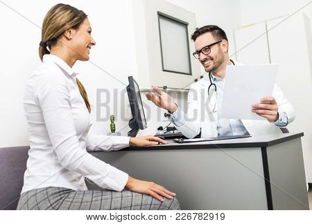 Young Woman At A Doctor's Checkup