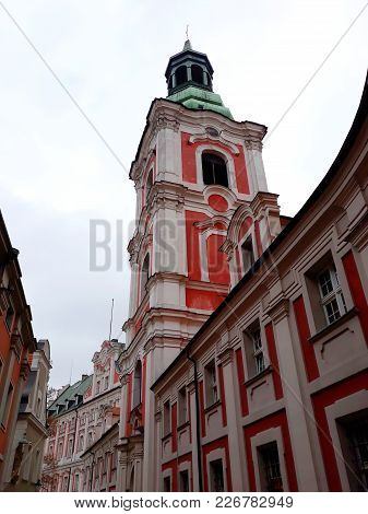 Poznan, Poland - December 02, 2017: St Stanislaus (the Bishop) Church In The Old Town