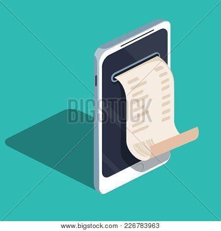 Payment By Means Of The Mobile Phone, Payments Electronic Online By Mobile Purse. Smartphone With Ca