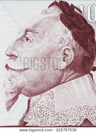 Gustav Ii Adolf Portrait From Swedish Money