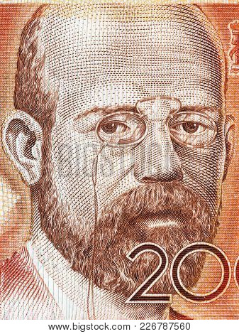 Leopoldo Alas Portrait From Spanish Money - Peseta