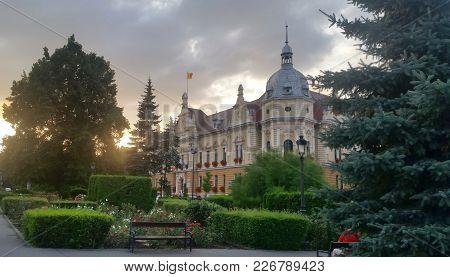 Brasov County Council Building In Brasov, Transylvania, Romania