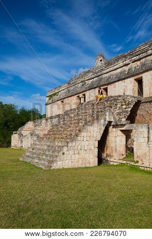 Kabah, Mexico - January 31, 2018: Majestic Kabah Ruins ,mexico. The Kabah Ruins Were A Shipwreck Sit