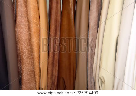 Genuine Leather Pelt In Beige And Brown Colors