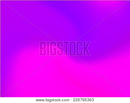 Abstract Ultra Violet Blurred Background. Smooth Gradient Texture Color. Vector Illustration. Shiny