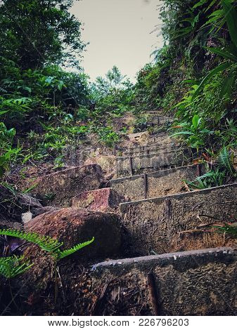 A Moderately Extreme Hiking Trail To The Top Of A Hill Called Kledang Hill That Located In Perak, Ma