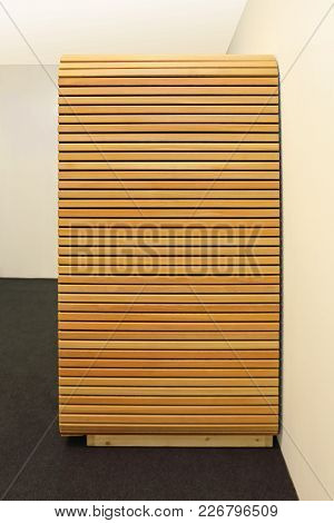 Light Wood Plank Boards Modern Closet Furniture