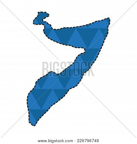 Dotted Line Map Of Somalia. Vector Illustration Design