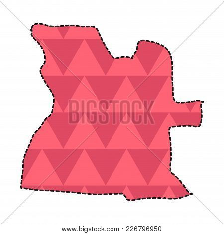 Dotted Line Map Of Angola. Vector Illustration Design