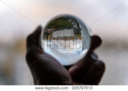 City View Through Crystal Ball