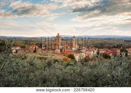 A Panoramic View Of Vinci, Tuscany, A Comune In The Province Of Florence