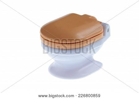 Toilet Bowl Toy Isolated On White Background