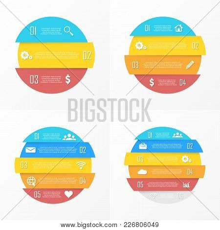 Set Vector Elements For Round Infographic. Business Concept Can Be Used For Chart, Brochure, Diagram