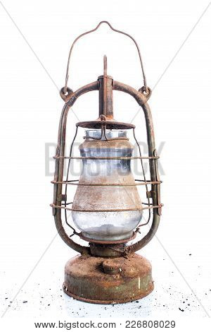 Gas Lighting On White Background, Retro And Vintage Object, Collectibles