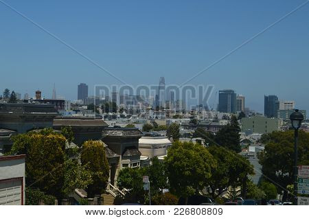 High Up In The Twin Peaks Neighborhood You Can Take This Photograph Of The Famous Sky Line Of San Fr