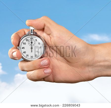 Human Watch Hand Stopwatch Human Hand Push Button Clock Face