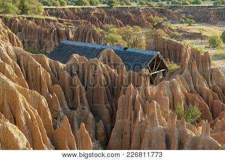 Excelsior, South Africa, February 9, 2018: A Wedding Chapel In An Erosion Canyon At Sunset At Korann