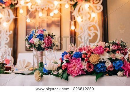 Catering In Restaurant. Wedding Banquet. Wedding Party. Restaurant Event. Banquet, Wedding, Catering