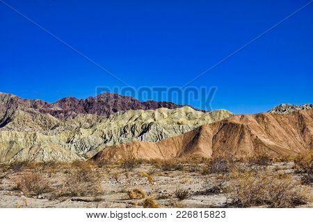Colored Hills Of Painted Canyon In The Mecca Hills Wilderness