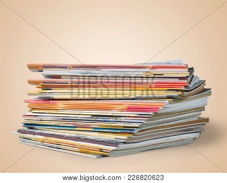 Stack Stacked Magazine Print Media Pile Of Newspapers Paper Stack Paper