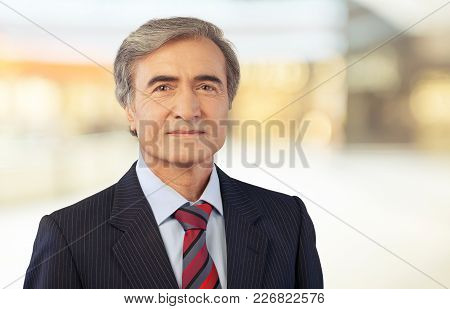 Man Businessman Looking Camera Looking At Camera Arms Crossed White