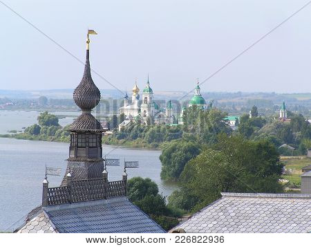 2012, Rostov, Russia. View Of The City And Lake Nero From The Observation Deck Of The Fortress Tower