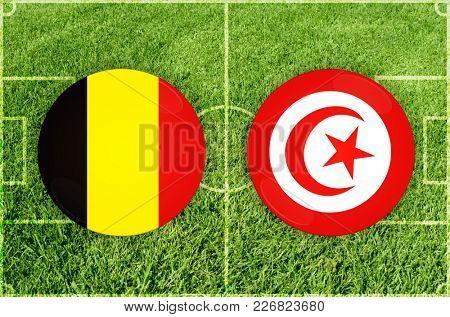 Illustration for Football match Belgium vs Tunisia