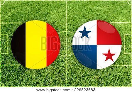Illustration for Football match Belgium vs Panama