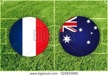 Illustration for Football match France vs Australia