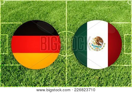 Illustration for Football match Germany vs Mexico