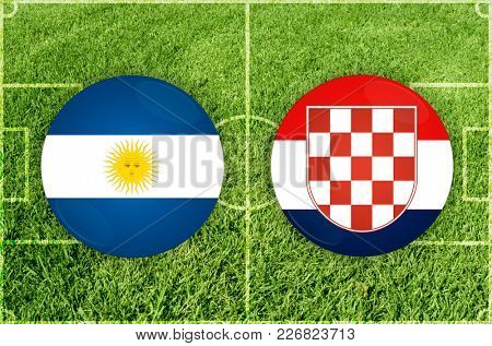Illustration for Football match Argentina vs Croatia