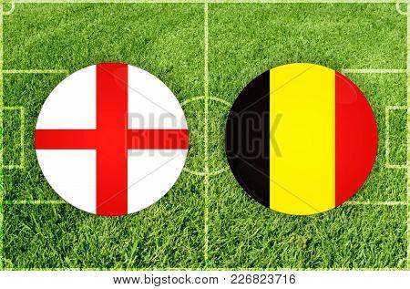 Illustration for Football match England vs Belgium