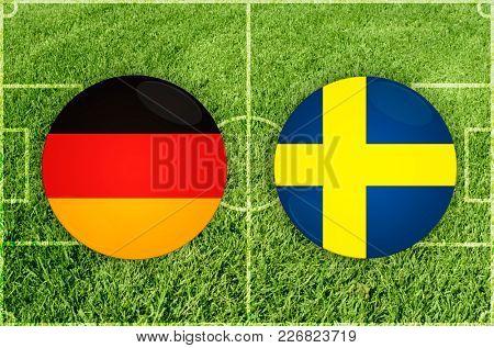 Illustration for Football match Germany vs Sweden