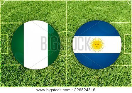 Illustration for Football match Nigeria vs Argentina